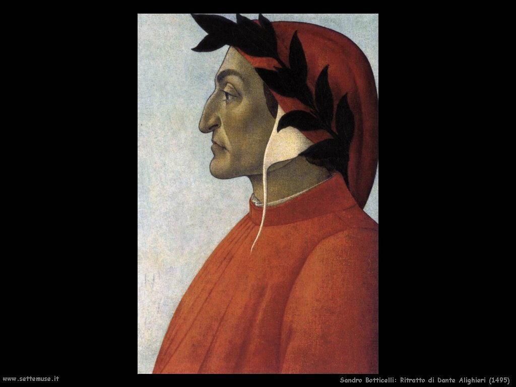 Sandro Botticelli Ritratto di Dante Alighieri (1495)