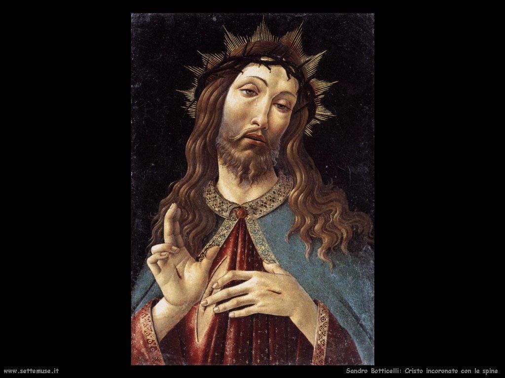 Sandro Botticelli Cristo incoronato con spine