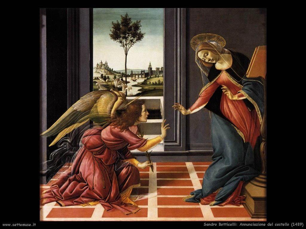 sandro botticelli Annunciazione del cestello (1489)