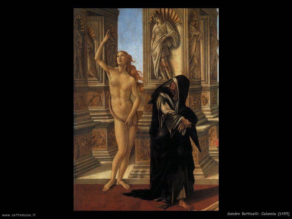 sandro botticelli Calunnia (1495)