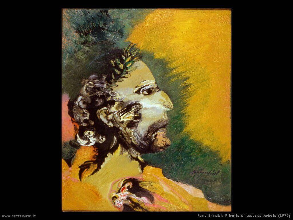 remo brindisi Ritratto di Ludovico Ariosto (1975)