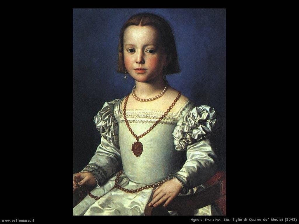 agnolo bronzino Bia, figlia di Cosimo de Medici (1541)