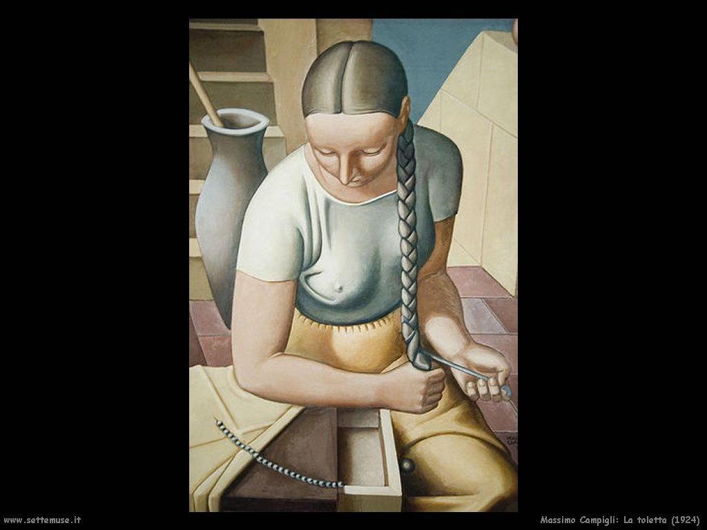 massimo campigli La toletta (1924)