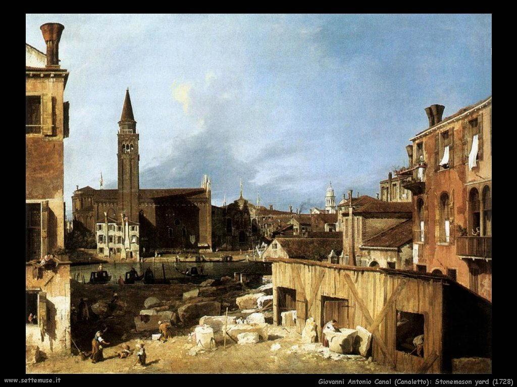 G.Antonio Canal detto Canaletto Laboratorio dei taglia pietra (1728)