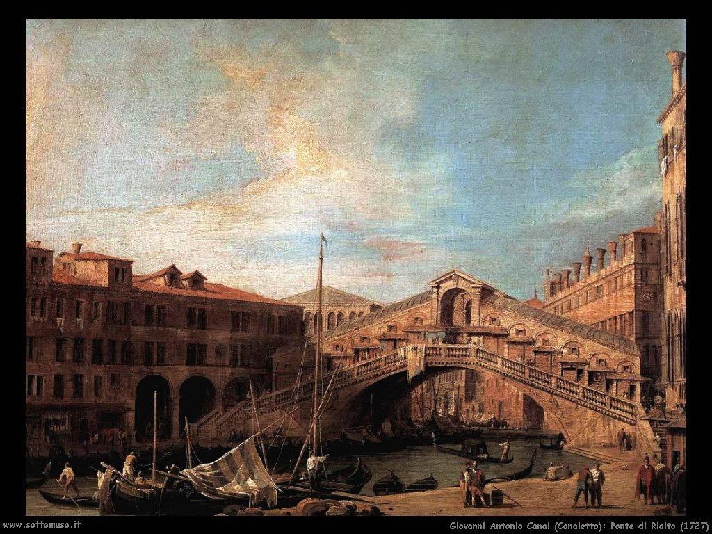 G.Antonio Canal detto Canaletto Ponte di Rialto (1727)