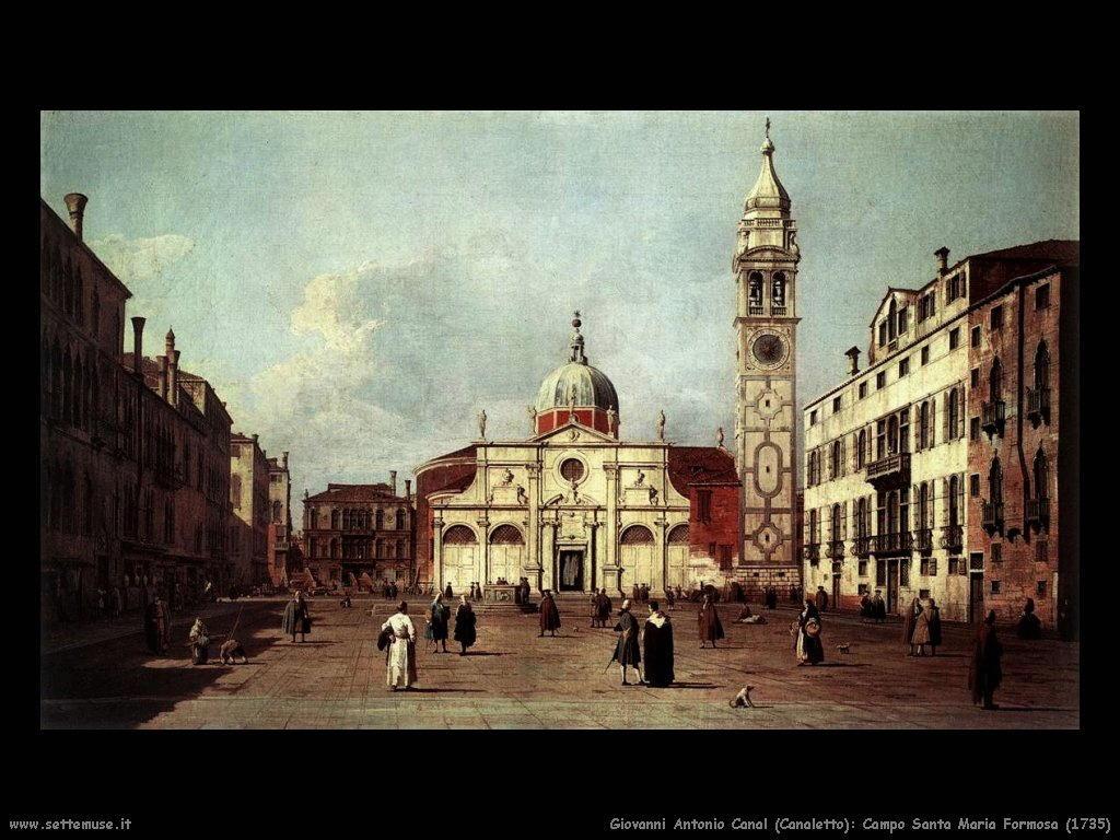 G.Antonio Canal detto Canaletto Campo Santa Maria Formosa (1735)