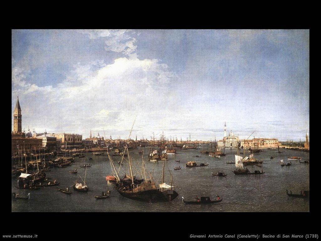 G.Antonio Canal detto Canaletto Bacino di San Marco (1738)