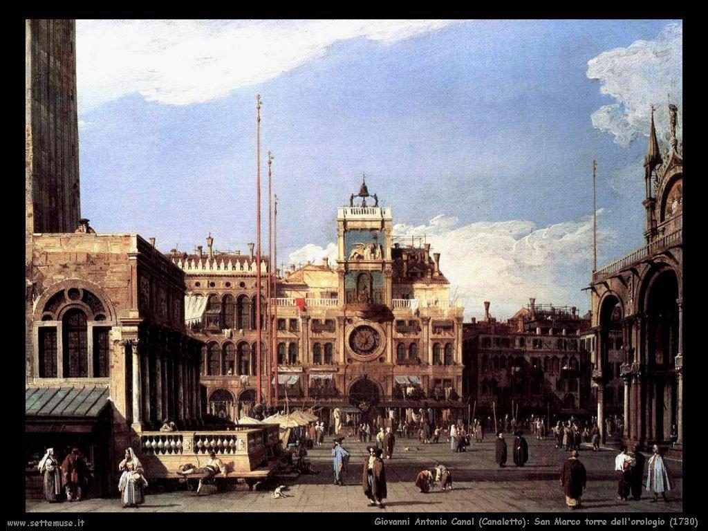 San Marco torre dell'orologio (1730)