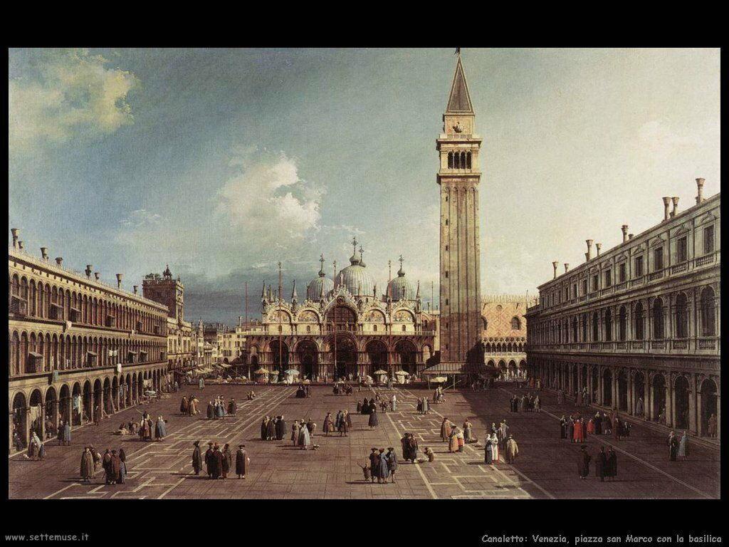 canaletto piazza san marco con la basilica