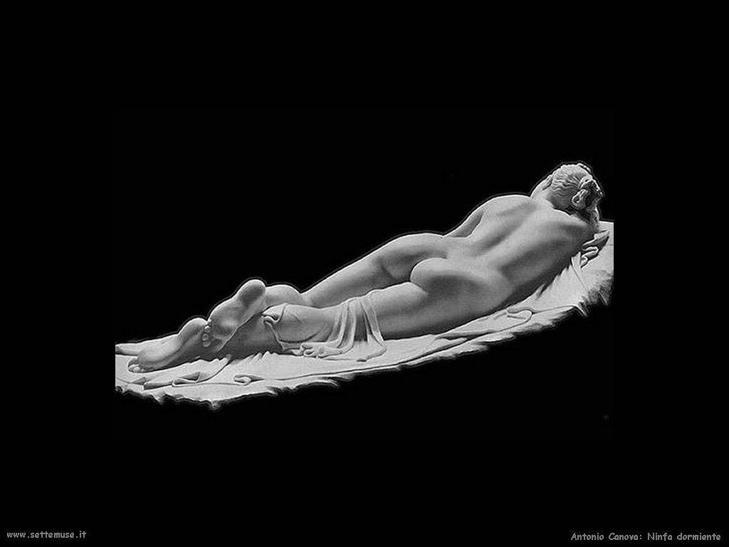 Antonio Canova_ninfa_dormiente