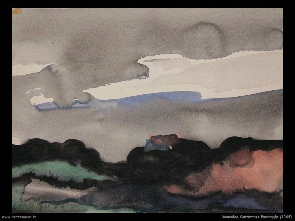 domenico cantatore Paesaggio (1964)