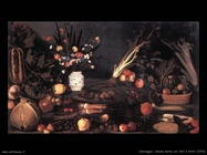 Caravaggio Natura morta con fiori e frutti (1590)