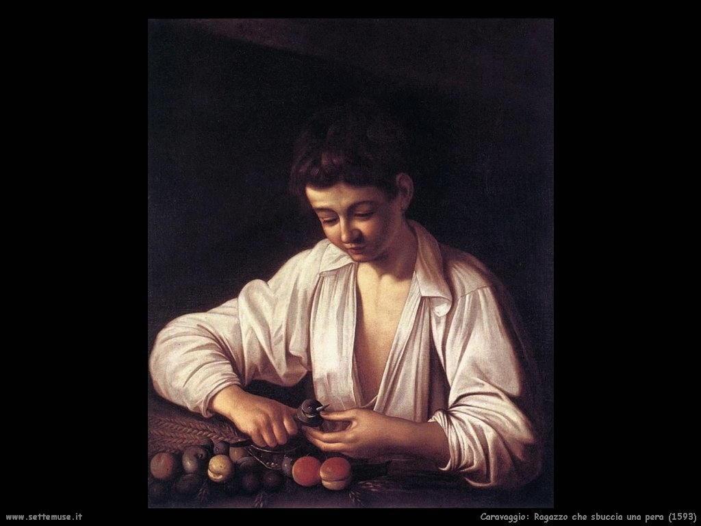 Ragazzo che sbuccia una pera (1593)