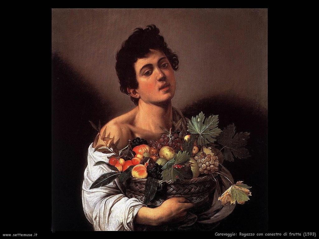 Ragazzo con canestro di frutta (1593)