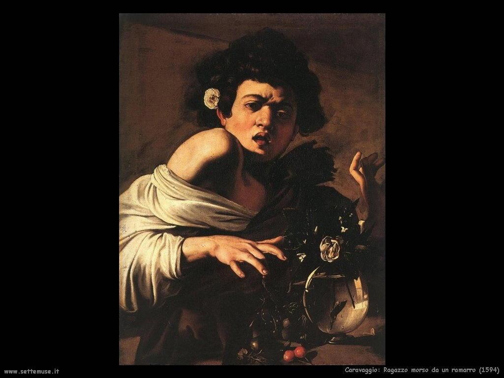 Caravaggio Ragazzo morso da un ramarro (1594)