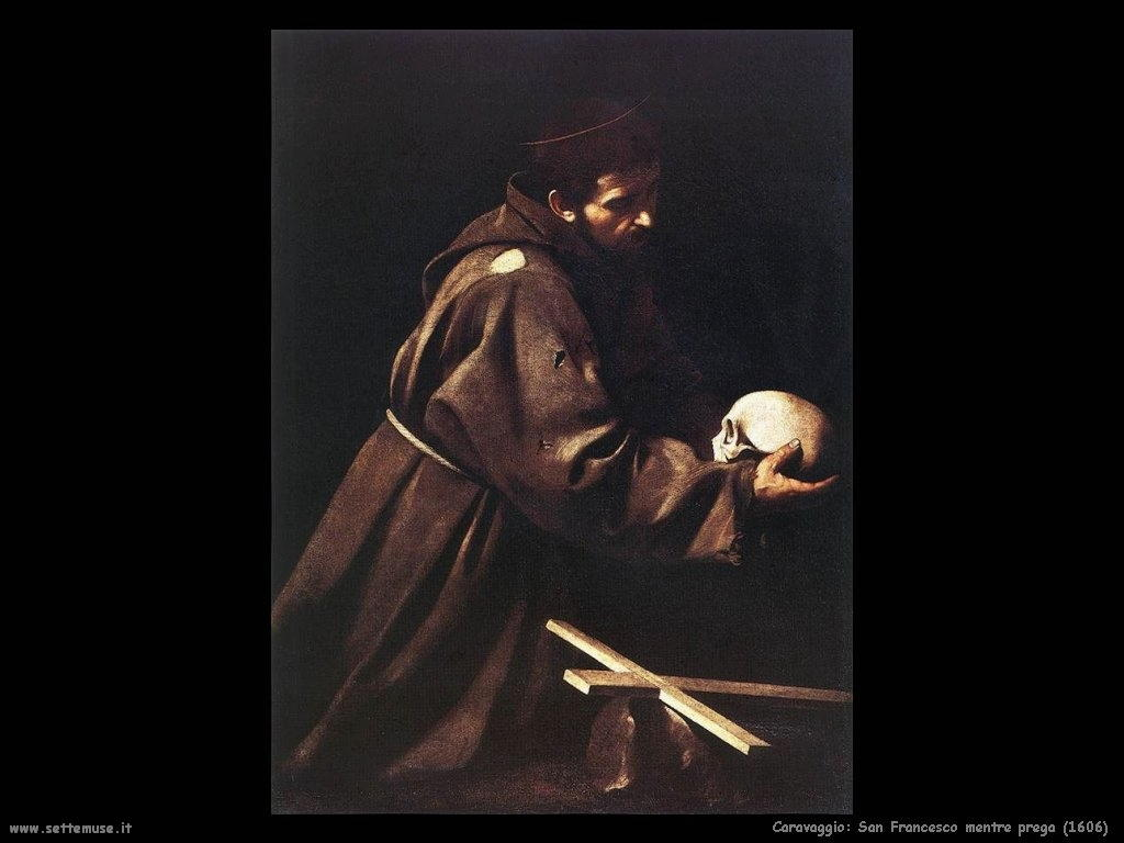 Caravaggio San Francesco mentre prega (1606)