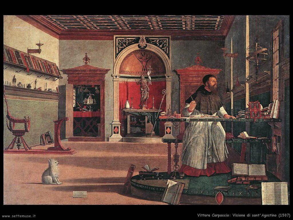 carpaccio Visione di S. Agostino (1507)