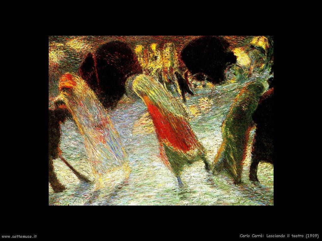 carlo carra Lasciando il teatro (1909)