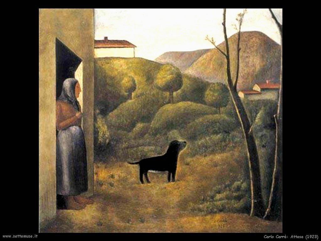 carlo carra Attesa (1923)