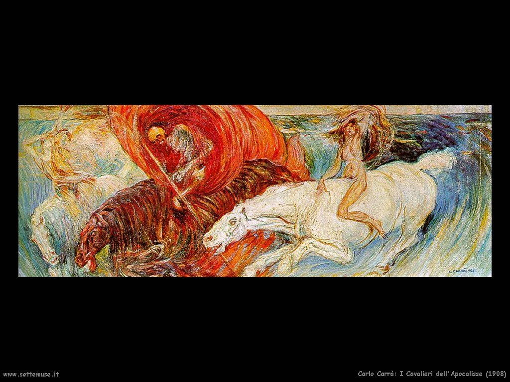 Carlo Carra: Cavalieri dell'apocalisse 1908
