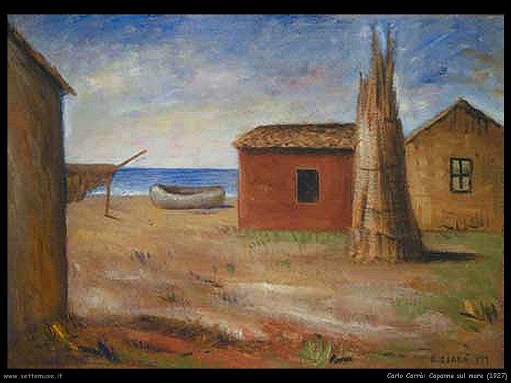 carlo carra Capanne al mare (1927)