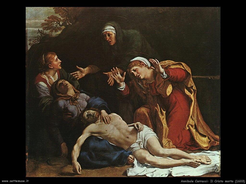 annibale carracci cristo morto