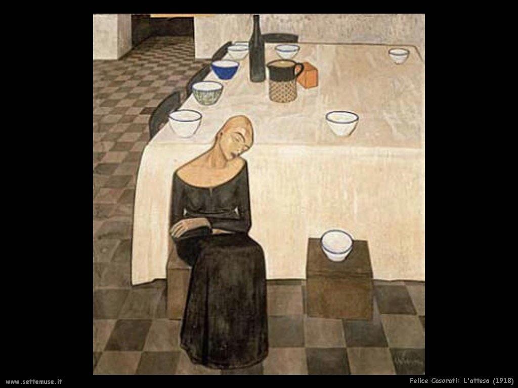 felice casorati L'attesa (1918)