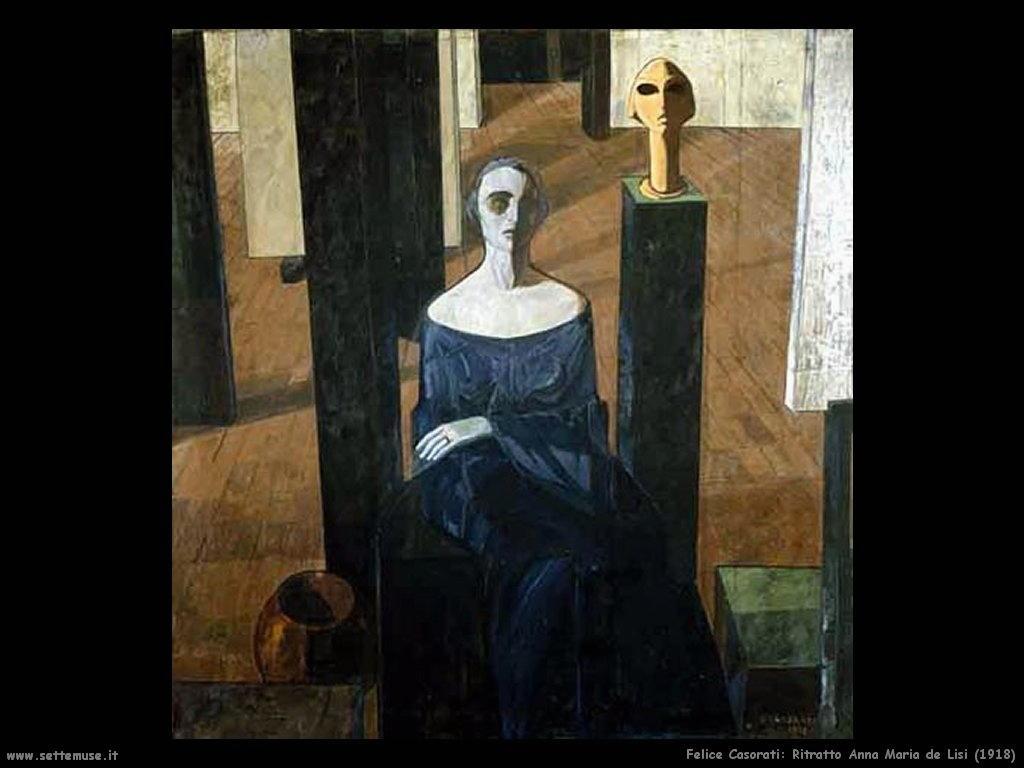 felice casorati Ritratto di Anna Maria de Lisi (1918)