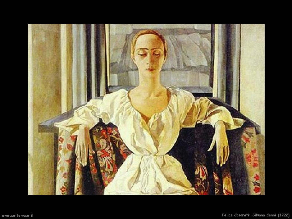 felice casorati Silvana Cenni (1922)