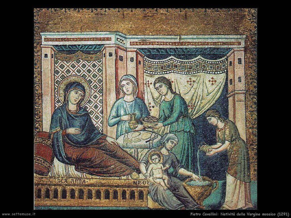Pietro Cavallini natività della Vergine 12914
