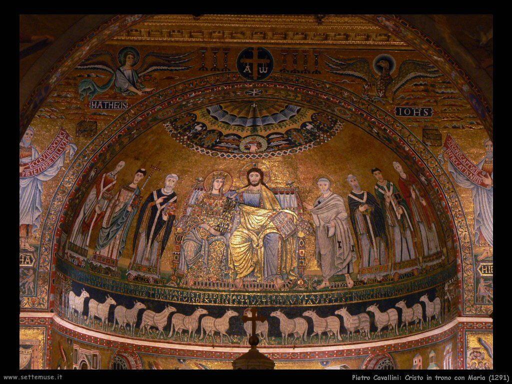 pietro cavallini Cristo in trono con Maria (1291)