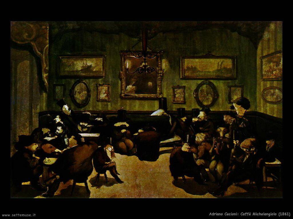 adriano cecioni Caffè Michelangiolo (1861)