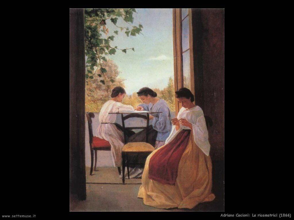 adriano cecioni Le ricamatrici (1866)