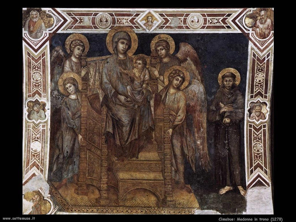 Cimabue Giovanni Madonna in trono (1278)