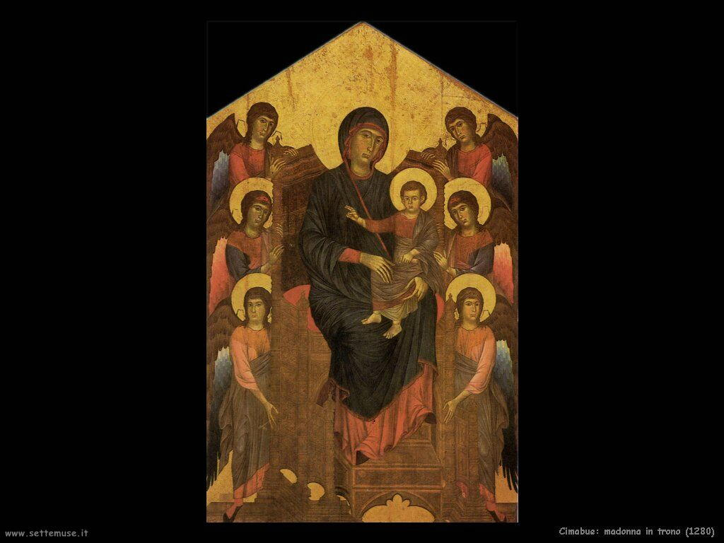 Cimabue Giovanni Madonna in trono (1280)