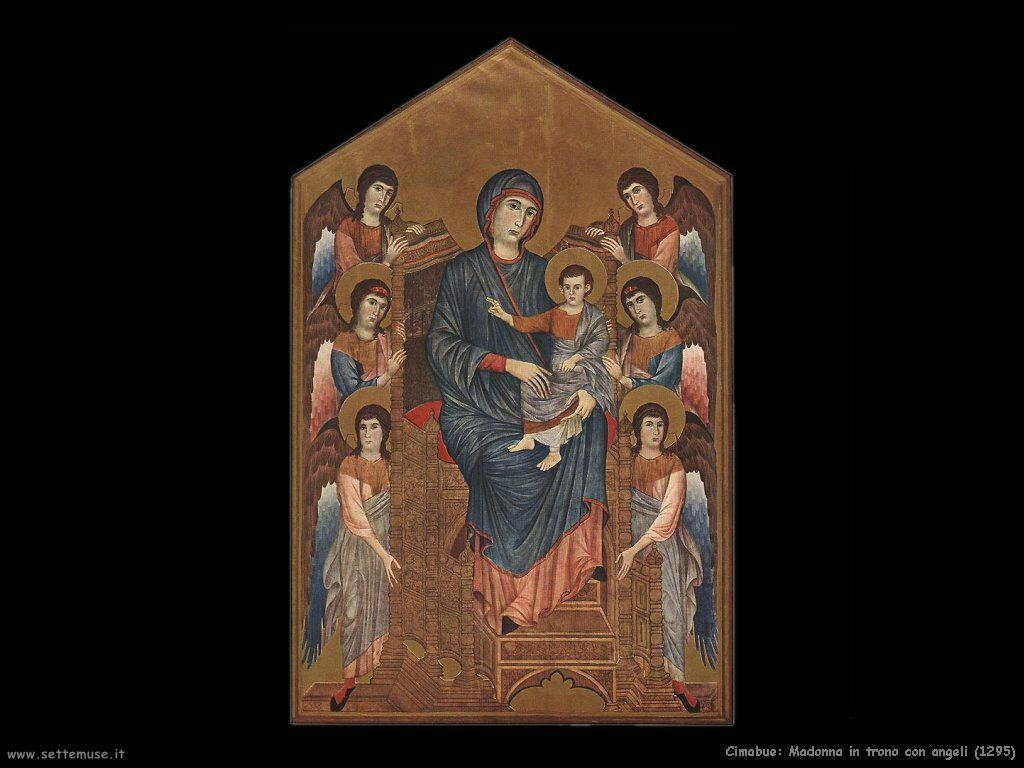 Vergine in trono con angeli (1295) Cimabue Giovanni