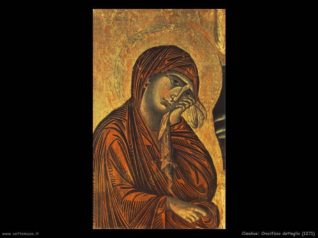 Cimabue Giovanni Crocifisso (dettaglio) (1271)