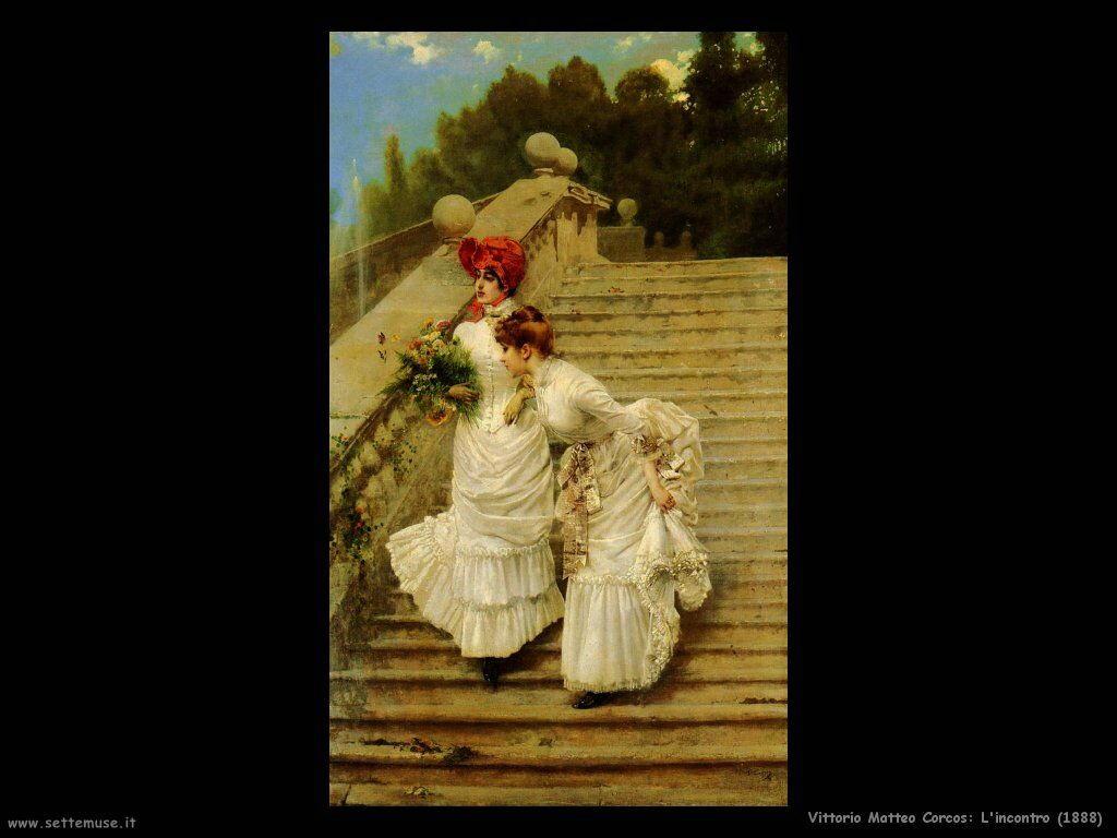 vittorio matteo corcos L'incontro (1888)