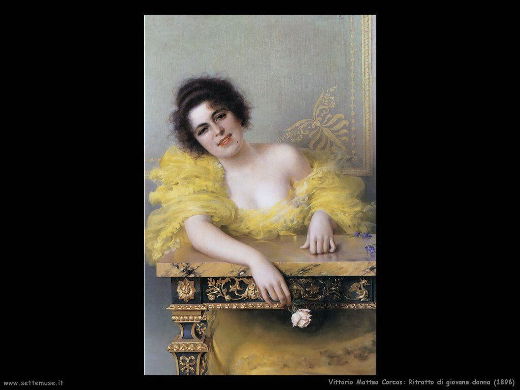 vittorio matteo corcos Ritratto di giovane donna (1896)