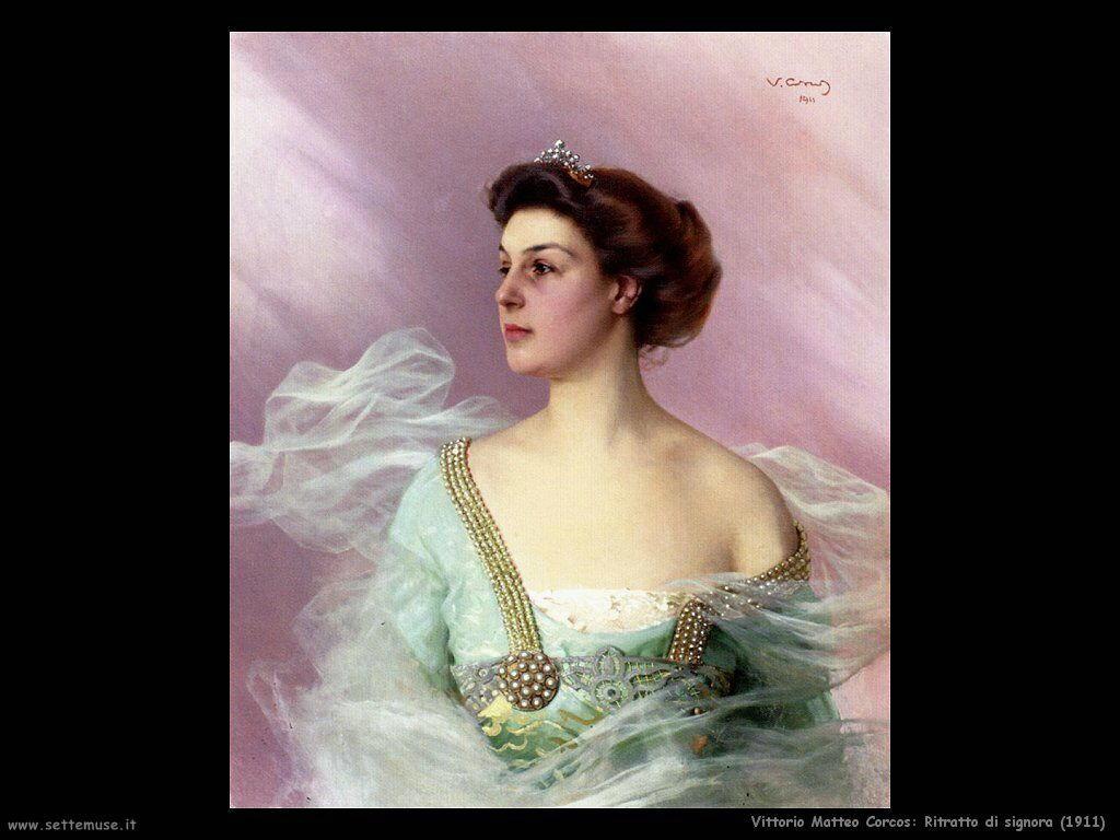 vittorio matteo corcos Ritratto di signora (1911)