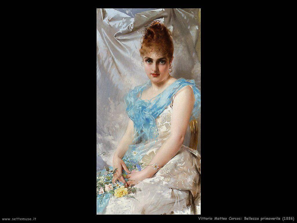 vittorio matteo corcos Bellezza primaverile (1886)