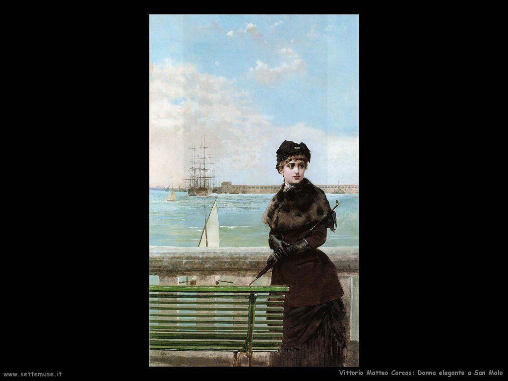 vittorio matteo corcos Donna elegante a San Malo