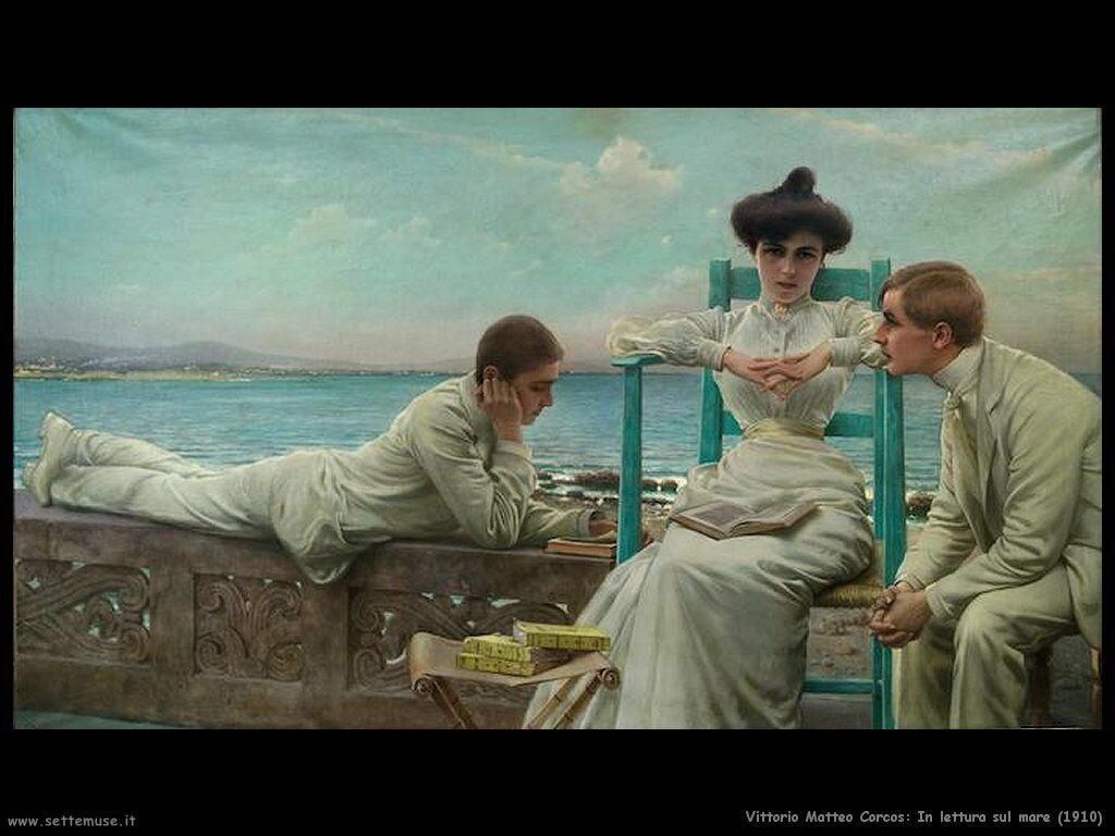 vittorio matteo corcos In lettura sul mare (1910)