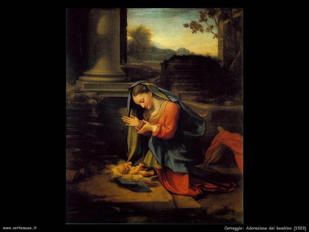 Correggio Adorazione del Bambino (1520)