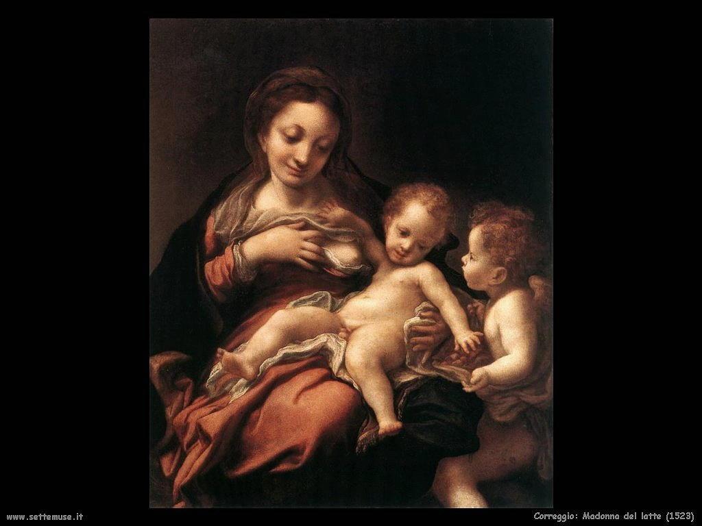 Correggio Madonna del latte (1523)