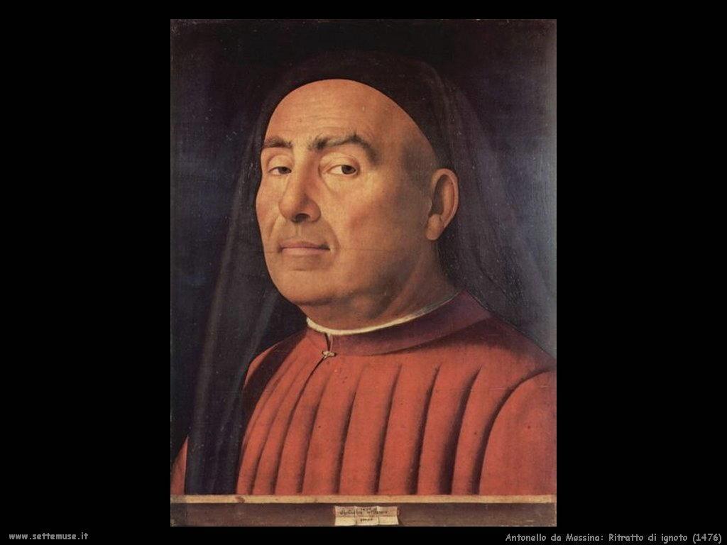 Antonello da Messina Ritratto di ignoto (1476)