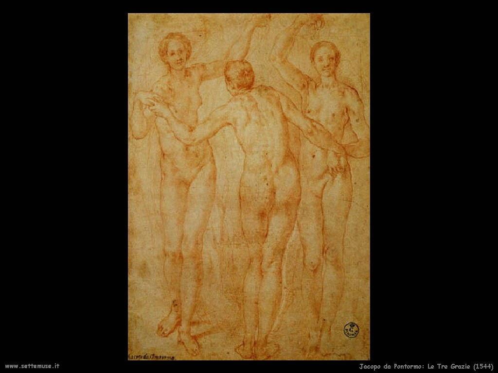 Jacopo da Pontormo Le Tre Grazie (1544)