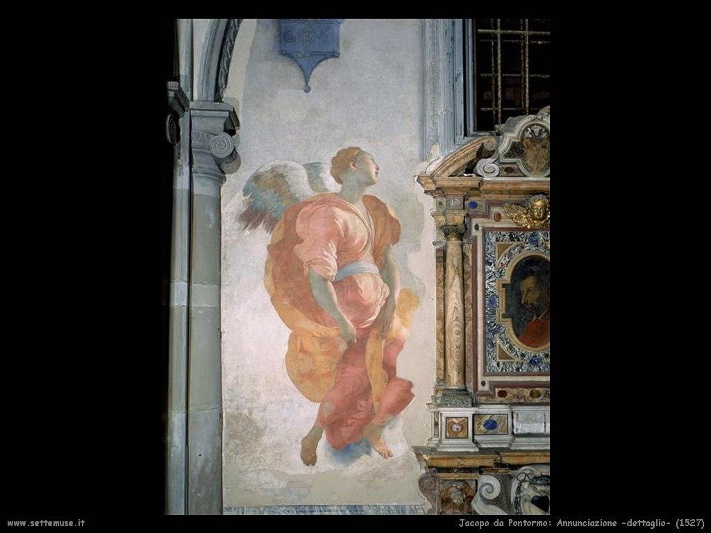 Jacopo da Pontormo Annunciazione (dettaglio) (1527)