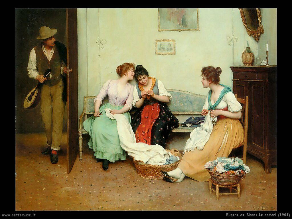 eugene de blaas Le comari (1901)