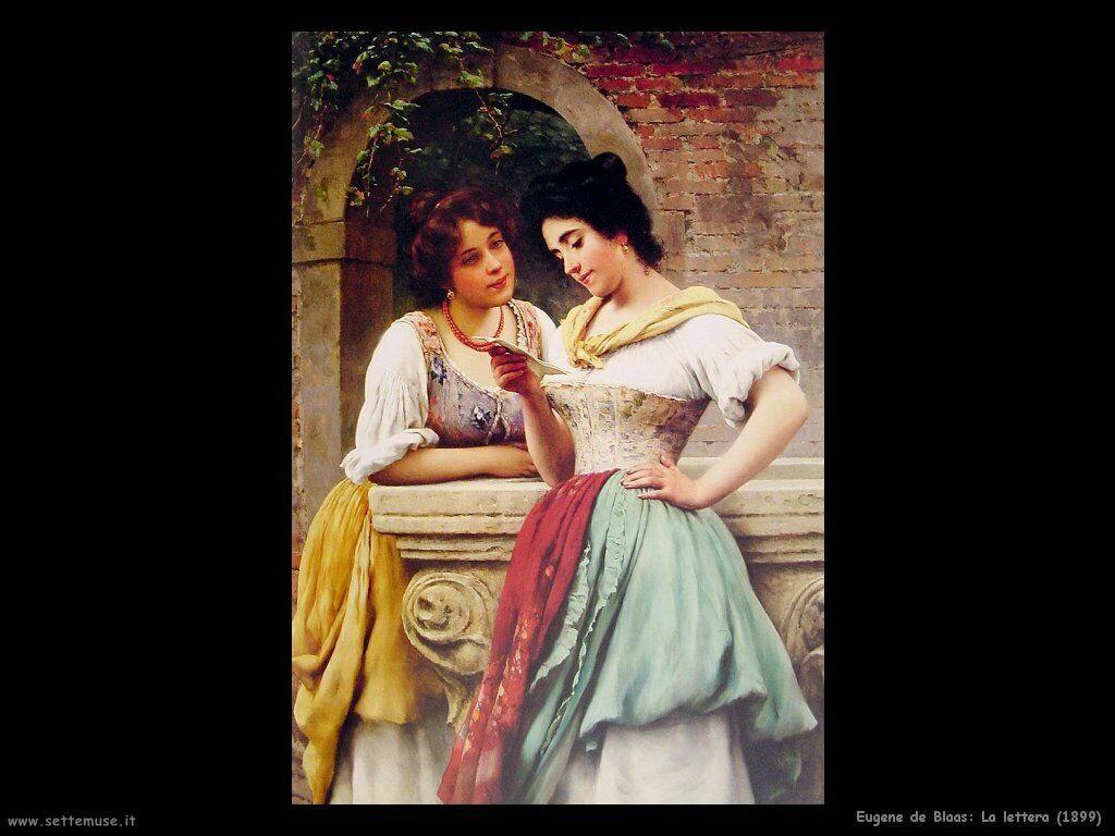 eugene de blaas La lettera (1899)